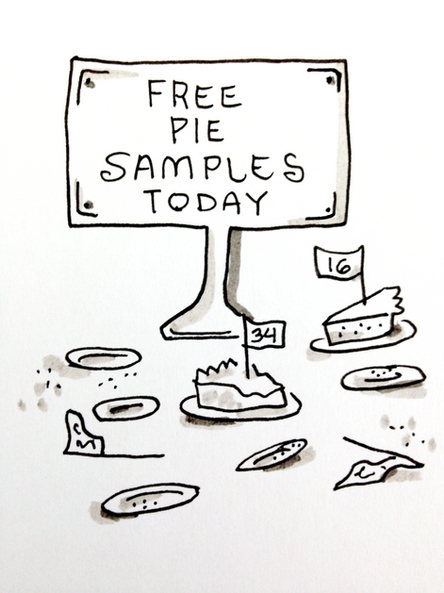 ILLUSTRATION- Superoink-FREE PIE SAMPLES