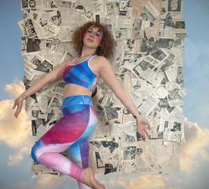 Watercolor jog bra and leggings 1