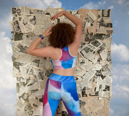 Watercolor jog bra and leggings 2