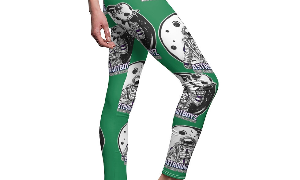ABI  Women's Cut & Sew Casual Leggings(green)
