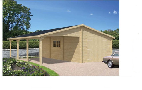 garage carport avec remise 63 50 m 300x298 300 berg. Black Bedroom Furniture Sets. Home Design Ideas