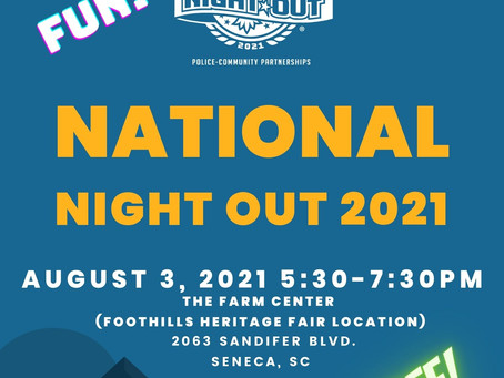 Oconee County Sheriff's Office to participate in 38th Annual National Night Out on August 3rd