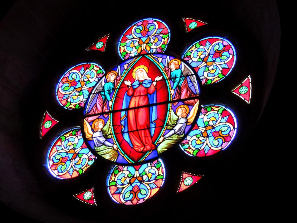Vitraux de l'église de Villedieu