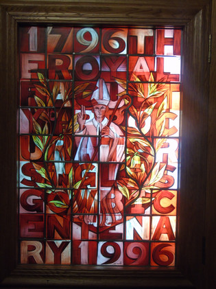 Stained glass window in the small library