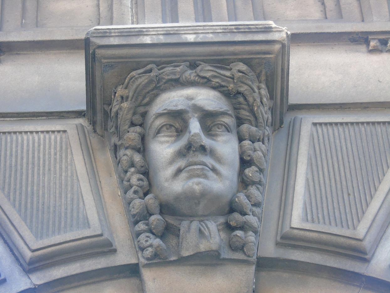 Keystone head of William Murray