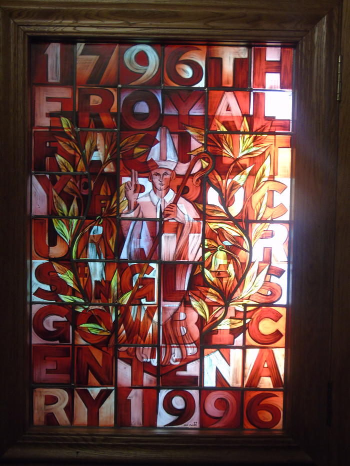 Stained glass commissioned for the Bicentenary of the Faculty