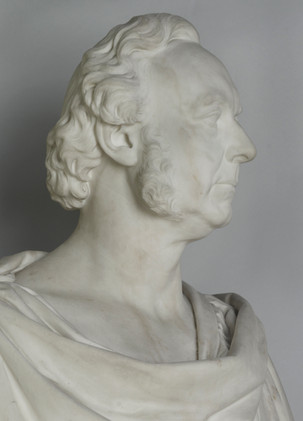 Marble bust of Henry Glassford Bell