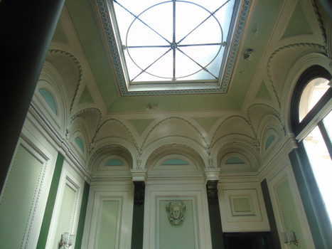 Skylight above the main staircase