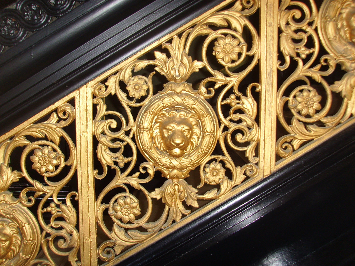 Detail on banister on the staircase