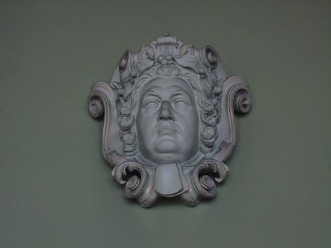 Plaster head of Robert Blair
