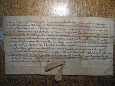 The charter from Christiana of the Isles which grants her lands to Artúr Caimbéal