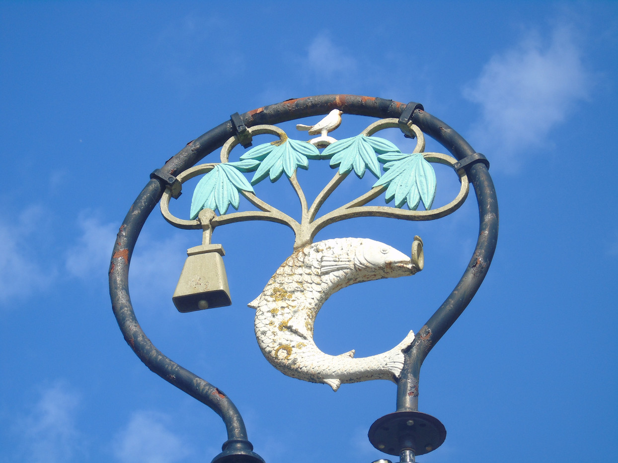 Lamppost featuring the Glasgow Coat of Arms