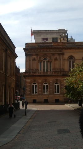 Royal Faculty building viewed from Buchanan Street with the Royal Faculty flag flying