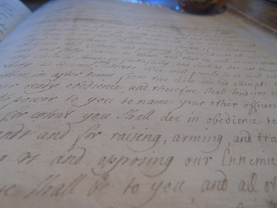 Detail of the James VII letter