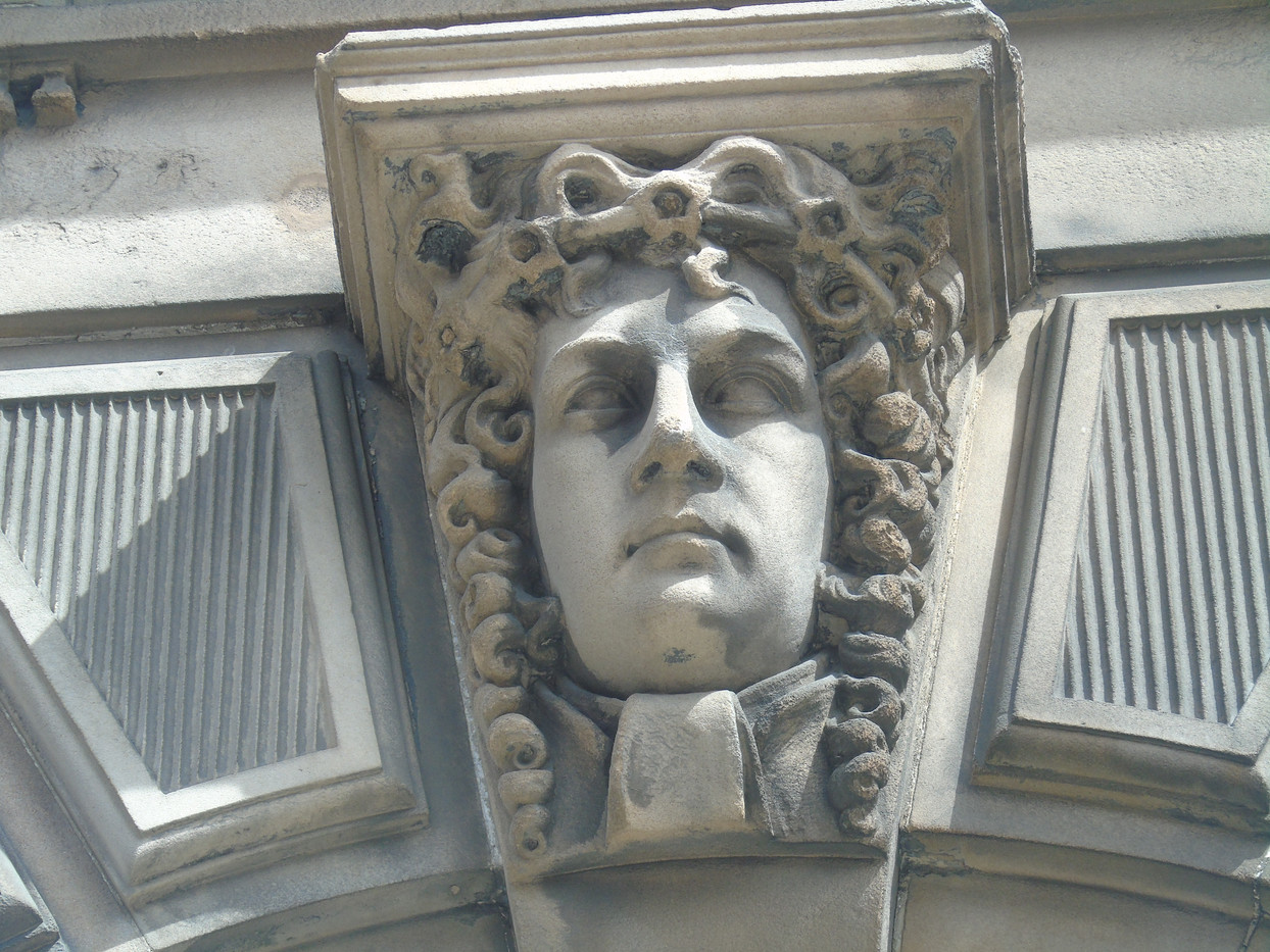 Keystone head of John Erskine