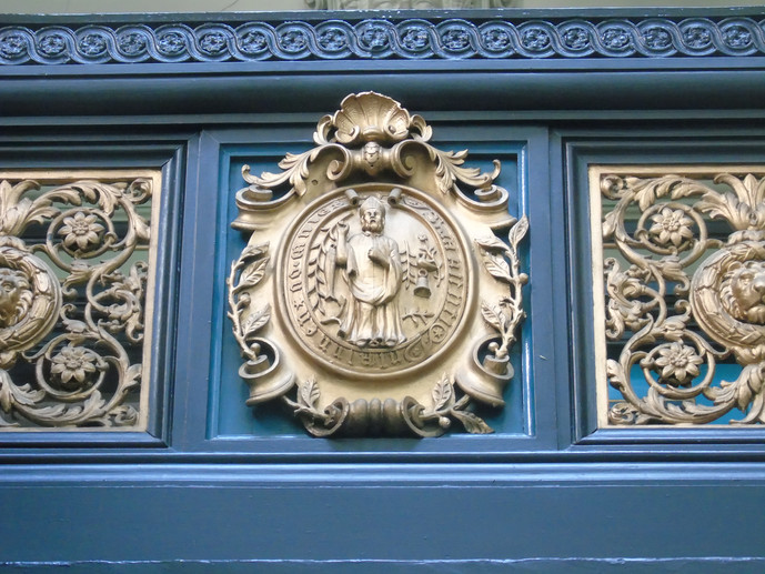 Crest of the Royal Faculty on the library staircase