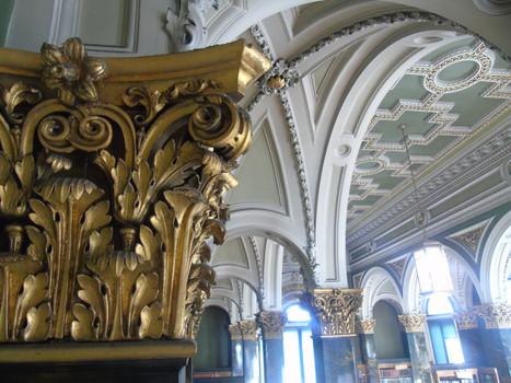 Plasterwork corinthian capital in the main library