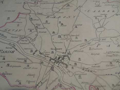 Map of Glasgow in 1773