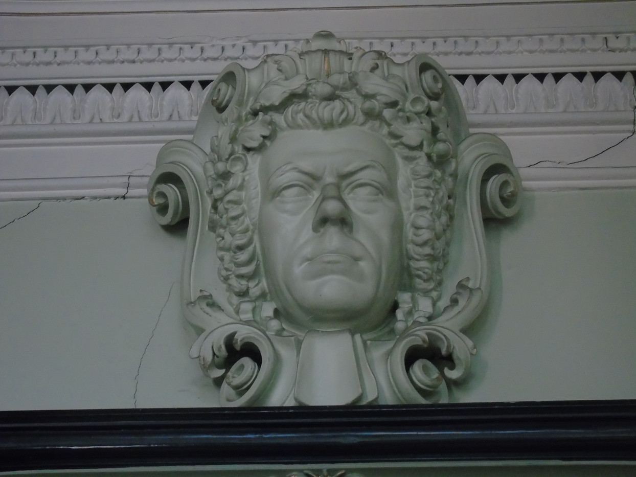 Plaster head of Henry Peter Brougham