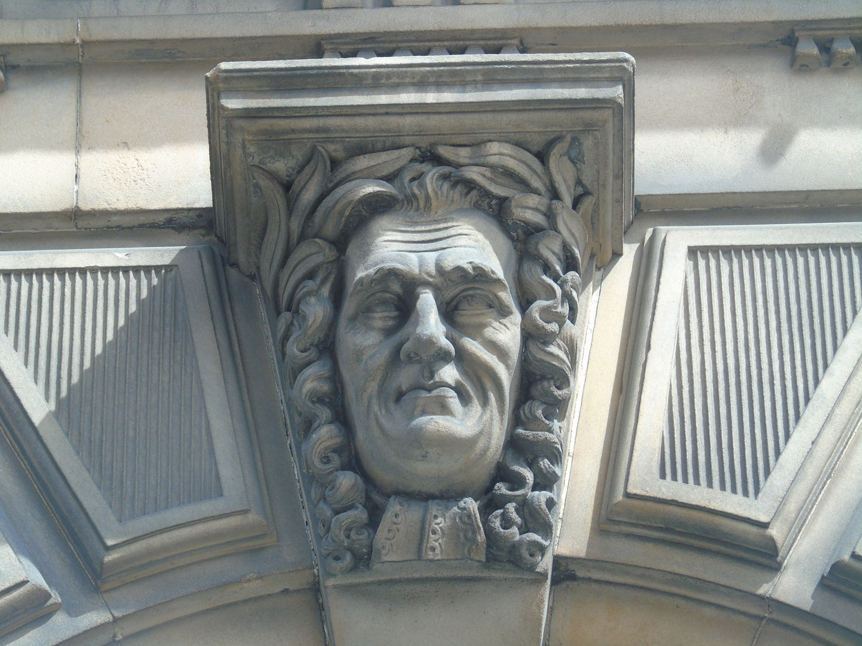 Keystone head of Henry Home