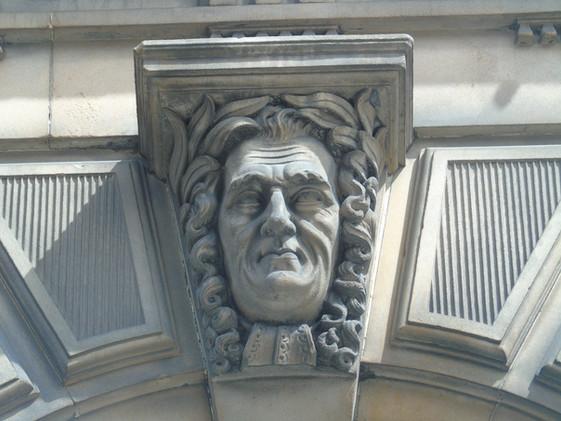 Keystone head of Henry Home