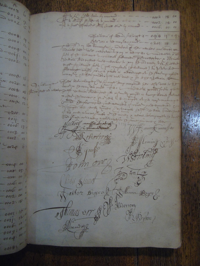 Page bearing the signatures of several members of Faculty