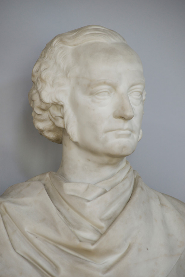 Marble bust of James Galbraith