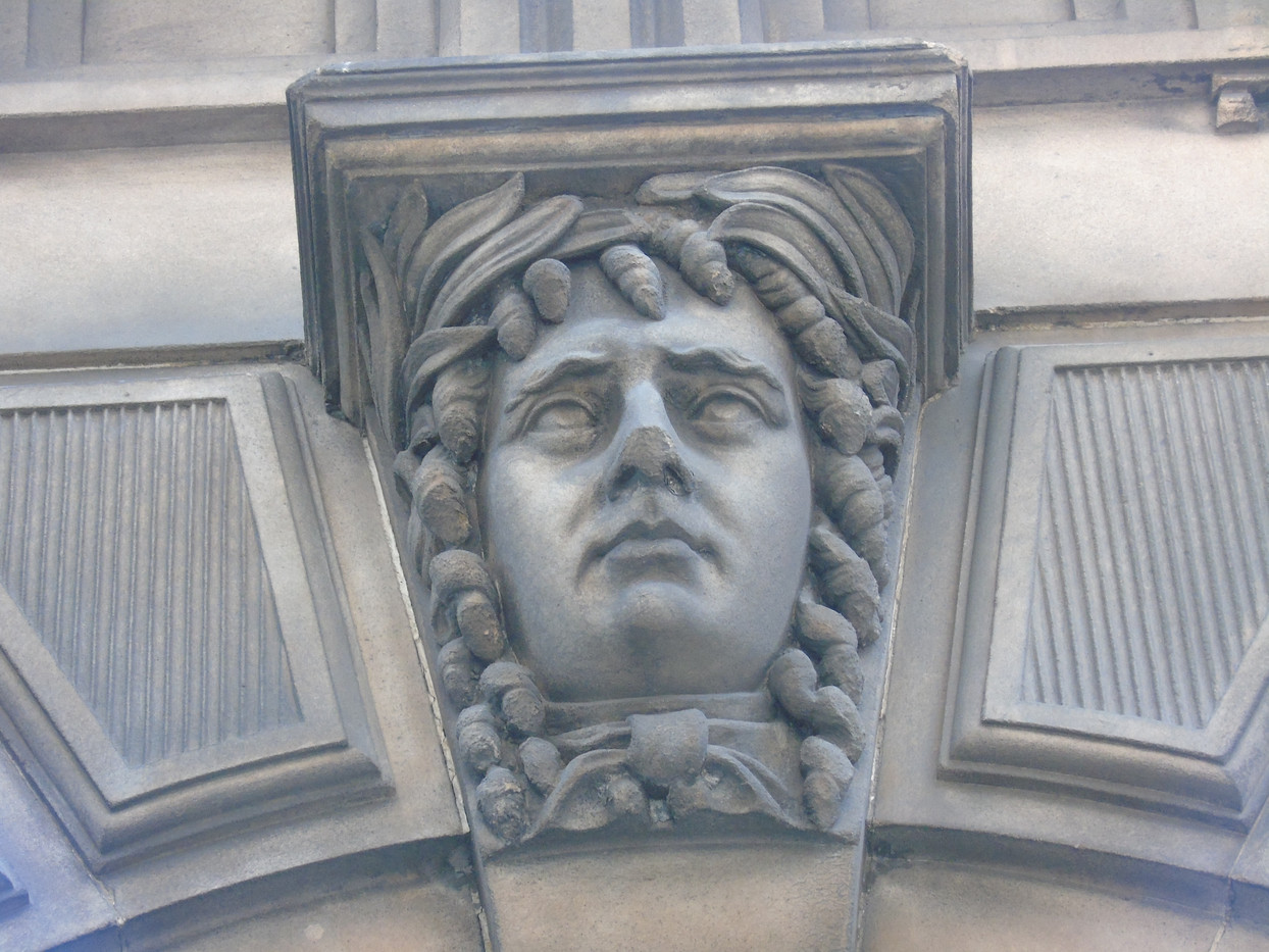 Keystone head of Thomas Erskine