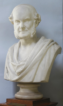Marble bust of William Towers-Clark