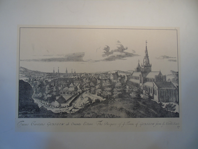North East view of Glasgow from the mid-18th century