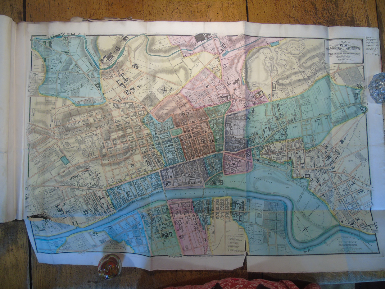 Map of Glasgow from 1828