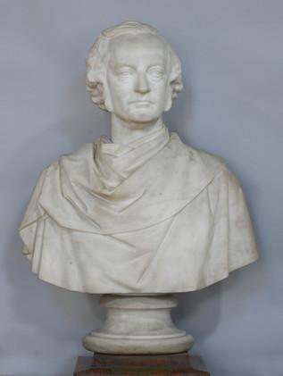 Marble bust of James Galbraith