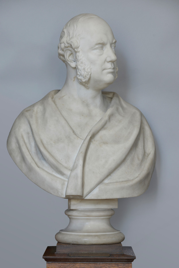 Marble bust of Francis William Clark