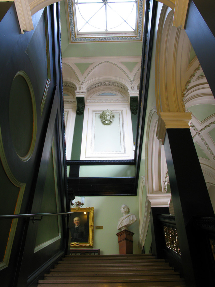 The Royal Faculty building's main staircase