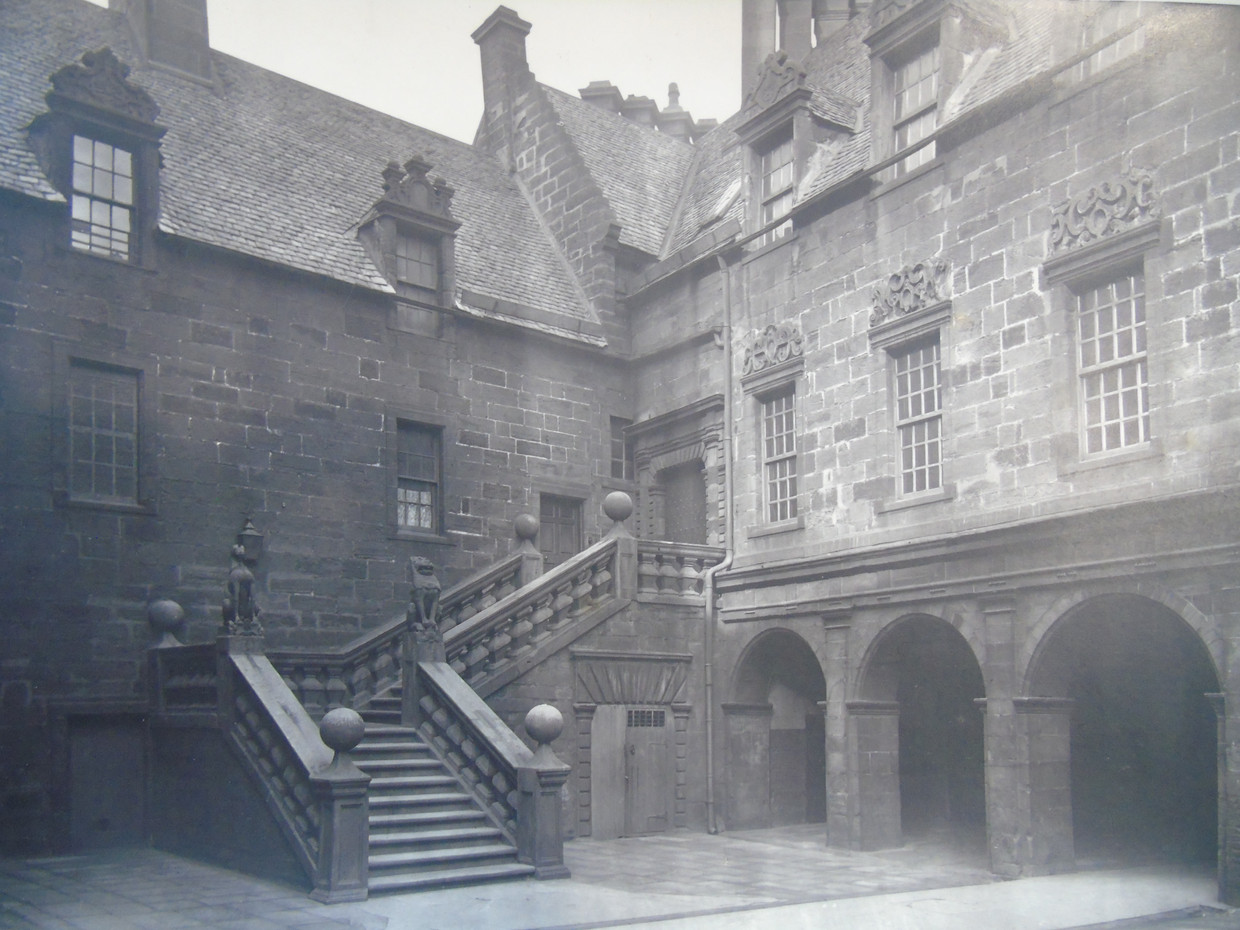 Lion and Unicorn Staircase at the Old College