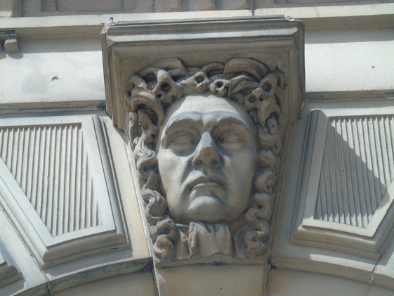 Keystone head of James Wellwood Moncrieff