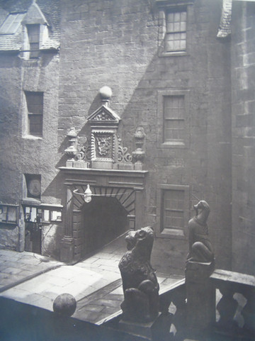 The entrance gate at the Old College