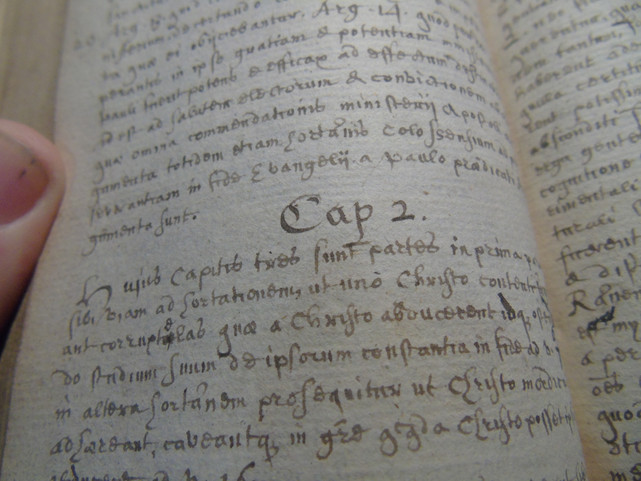 Close-up of chapter 2 of the Explicatio
