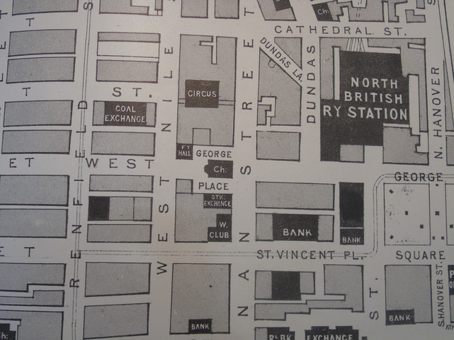 Early 20th century map showing the location of the RFPG labelled 'Faculty Hall'