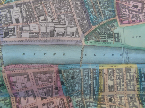 Detail of the 1828 map of the city