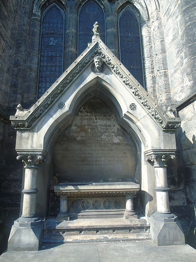 [3] george baillie's grave at glasgow ca