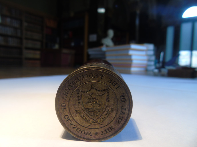 Crest of the Royal Faculty on a seal