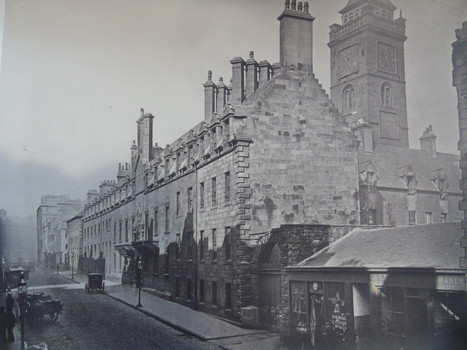 The Old College of the University of Glasgow on High Street, from a book of photographs by Thomas Annan