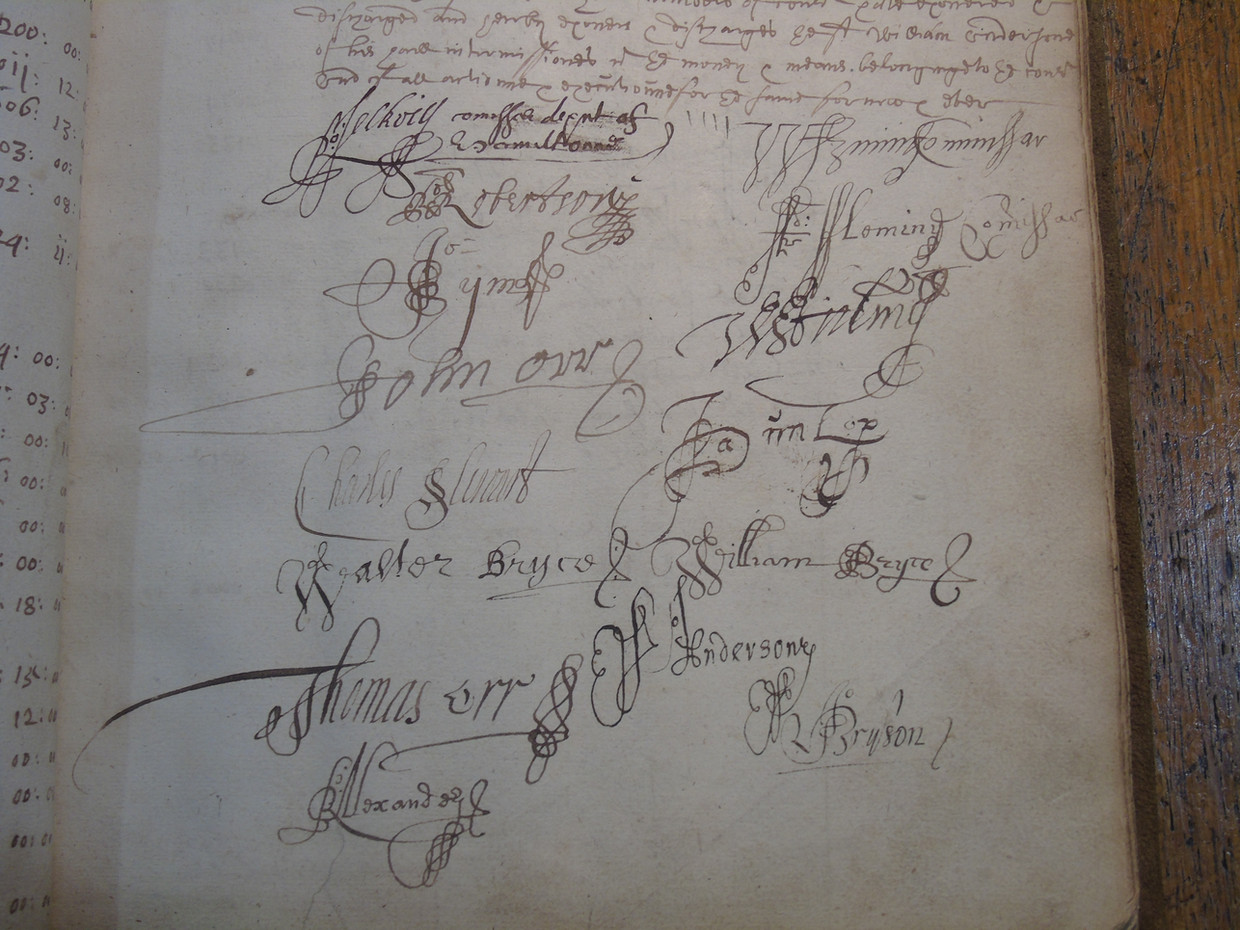 Detail of the signatures