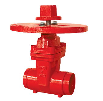 Ref. 241A/17 Resilient Seat Gate Valve Groove End ISO Flange Top 200PSI UL/FM FS