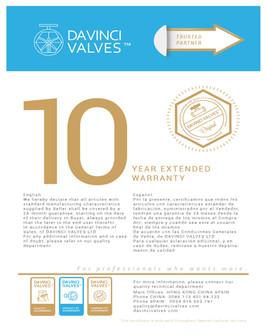 10 year DAVINCI Guarantee and Warranty C