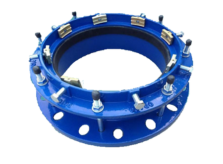Ref. 622/76 Restrained Flange Adaptor for Large Sizes PE/HDPE/PVC Pipe