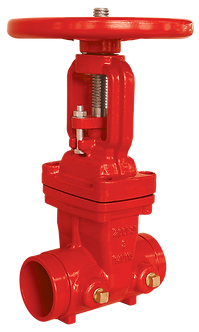 Ref. 241A/16 Resilient Seat Gate Valve Rising St. Groove Ends  200PSI  UL/FM FS