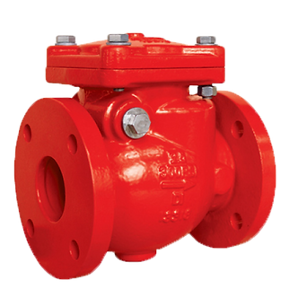 Ref. 411A/29  SWING CHECK VALVE FLANGED END 300PSI UL-FM FOR FIRE SYSTEMS