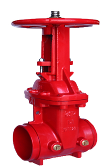 Ref. 241A/53 Resilient Seat Gate Valve Rising Stem Groove End 300PSI  UL/FM FS